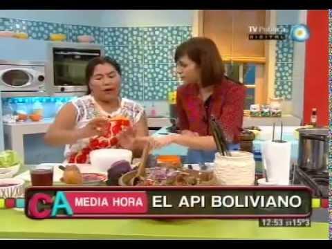 Gastronomía Boliviana: Api - Por la Chef Sacha Sawila