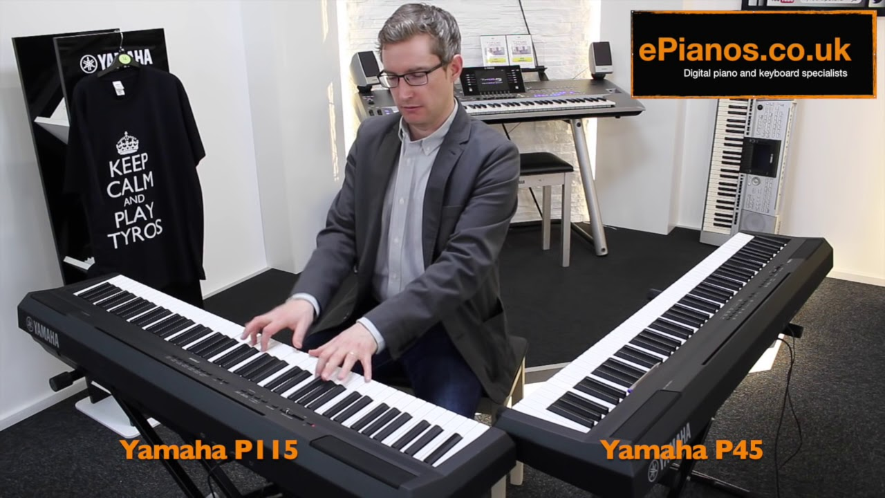 yamaha p45 v p115 comparison what piano should i buy youtube. Black Bedroom Furniture Sets. Home Design Ideas