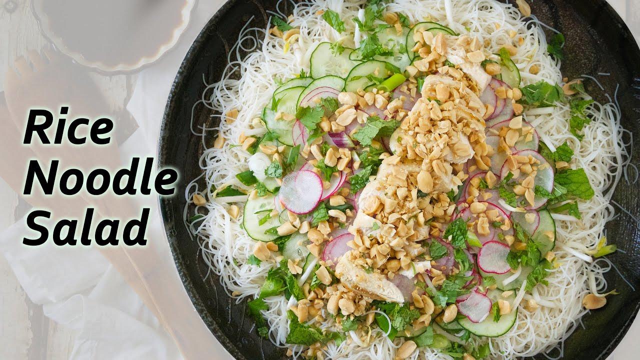 Rice Noodle Salad Recipe | Vietnam Kitchen | Vietnam Cooking - YouTube