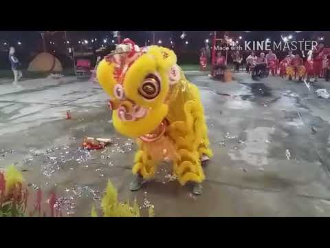 Singapore Nan Shao Lin Lion Dance Cai Qing Performances at 龙山岩 Temple on Day 15 of CNY 2/3/18