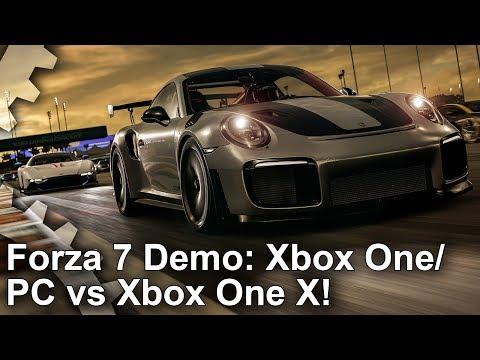 Forza Motorsport 7 Demo: Xbox One vs Xbox One X vs PC Comparison!