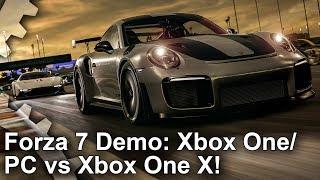 [4K] Forza Motorsport 7 Demo: Xbox One vs Xbox One X vs PC Comparison!