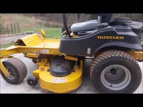 Hydraulic fluid change on Hustler Raptor SD mower