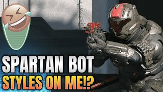 After killing me the Spartan Bot 360 styles over my corpse... is that a 343 employee?