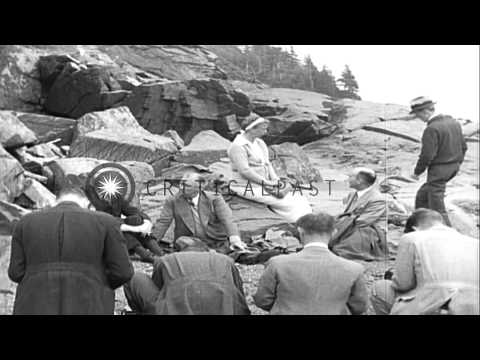 U.S. President Franklin D. Roosevelt vacationing with his family at Campobello Is...HD Stock Footage
