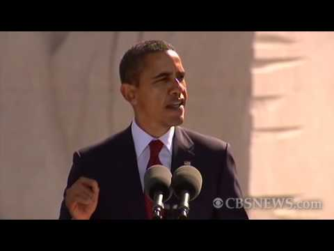 Obama speaks at MLK memorial dedication