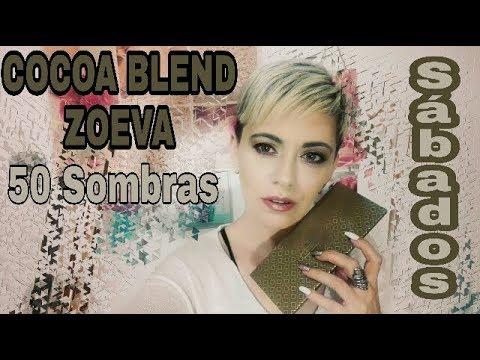 COCOA BLEND de Zoeva / 50 Sombras De Sábado/ tonos MORADOS, DORADOS Y FUCSIA GRANATE?