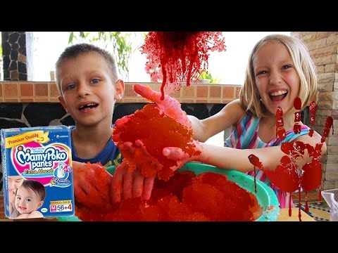 How to make BLOODY SNOW from DIAPER