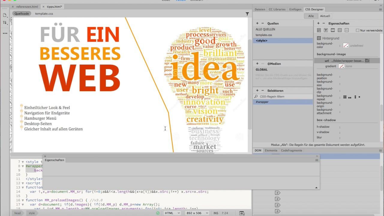 Dreamweaver CC 2017 - Für ein besseres Web - tipps html - lokales ...