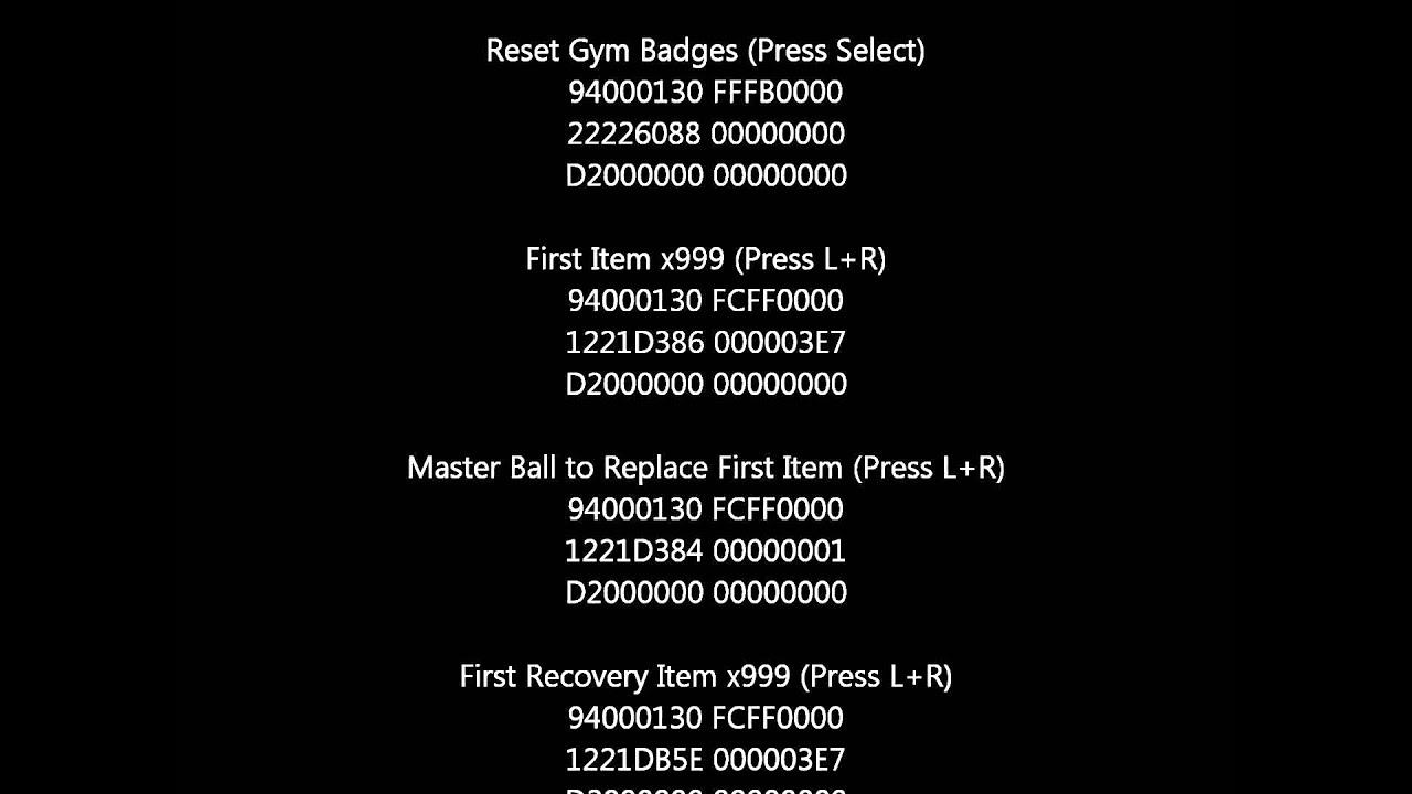 <b>Cheat Code Pokemon Black</b> Version <b>2</b>