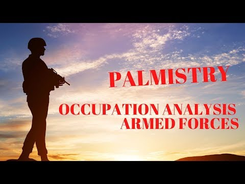 OCCUPATION ANALYSIS - ARMY/ MILITARY MEN