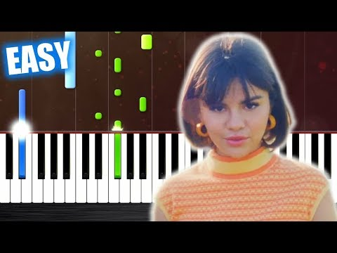 Selena Gomez - Back To You - EASY Piano Tutorial by PlutaX