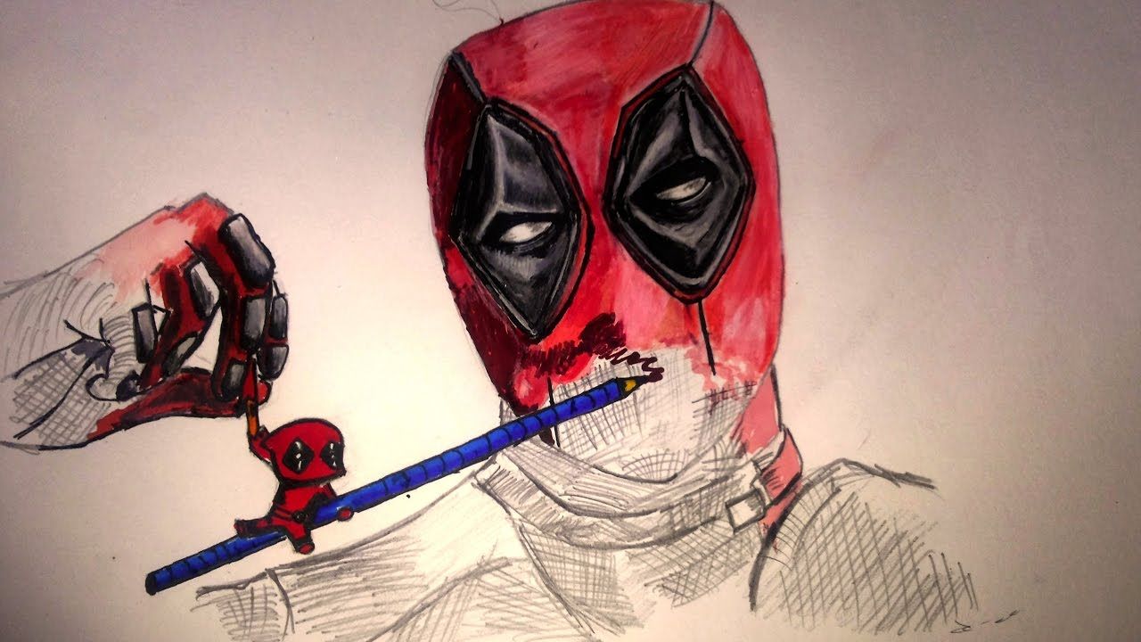 Drawing DEADPOOL -Chibi DEADPOOL sketching the DEADPOOL☑️ ...Deadpool Sketch