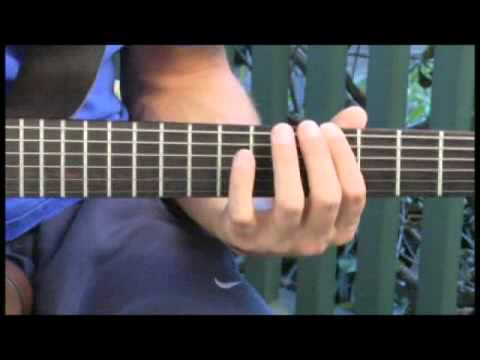 Playing B-Flat Diminished Major 7 Arpeggios on Guitar - YouTube