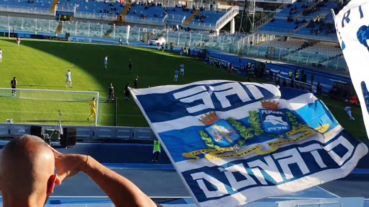 Pescara-Spezia 1-2 la partita vista dalla Curva Nord ...