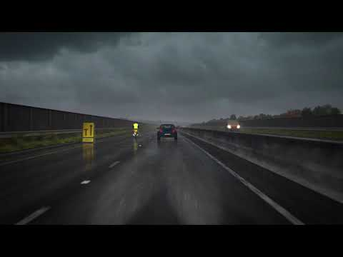 Hazard perception test: sample clip - driving in rain
