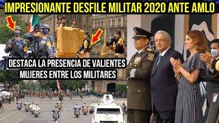 IMPRESIONANTE DESFILE MILITAR 2020  ANTE AMLO (MODIFICADO POR EL COVID-19)