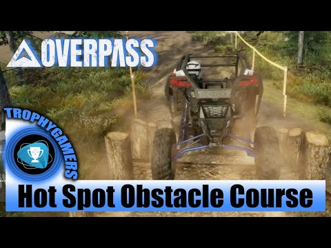 Overpass - Hot Spot - Gold Medal - Obstacle Course - Northern Forest - UTV Polaris Pro XP Gameplay |