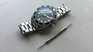 How to remove links and re-size a cotter-pin watch bracelet