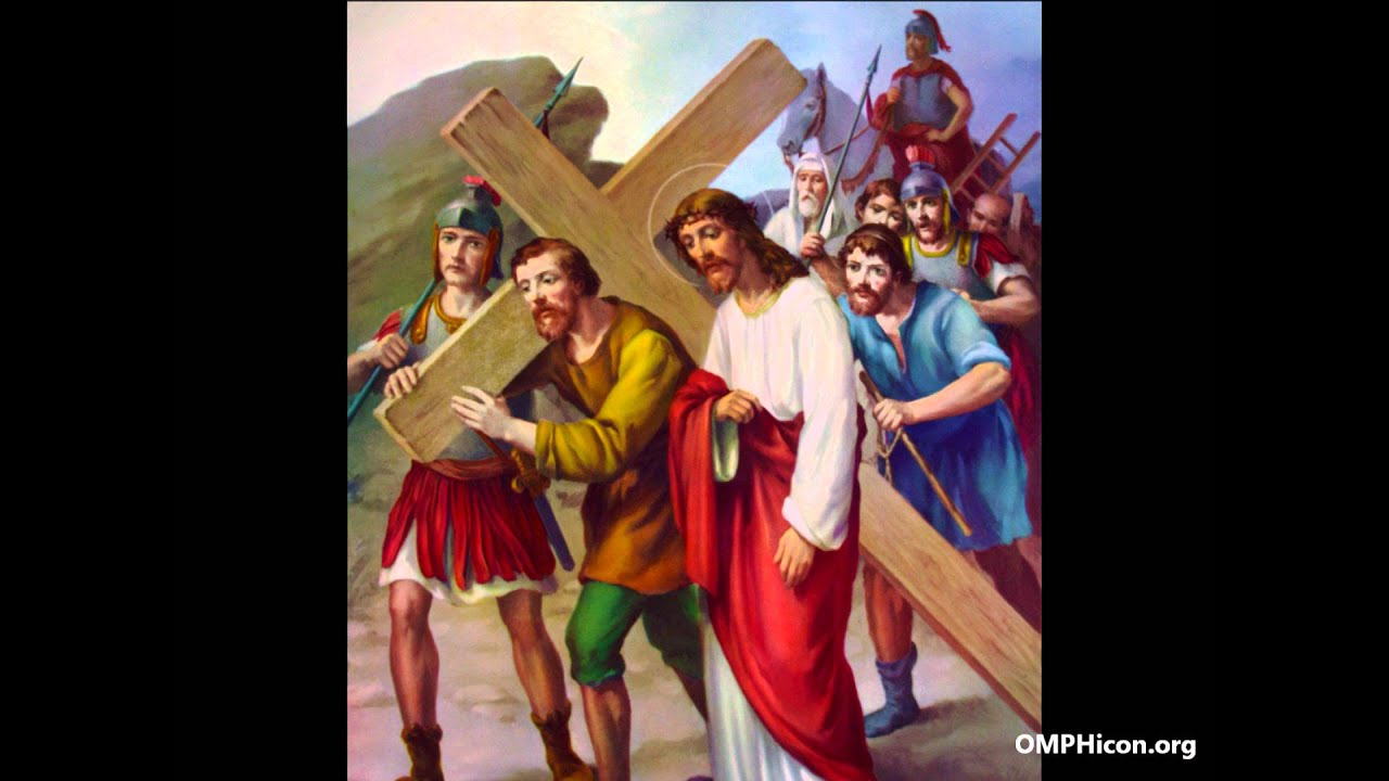 the fifth station simon helps jesus to carry the cross youtube