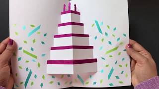 DIY Pop Up Cake Card - Easy Birthday Card