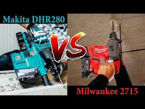 Обзор и сравнение Milwaukee 2715/CHP и Makita XRH08/DHR280