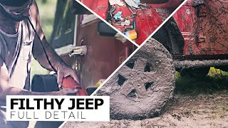 Detailing The Dirtiest Jeep Wrangler! Complete Interior and Exterior Detail