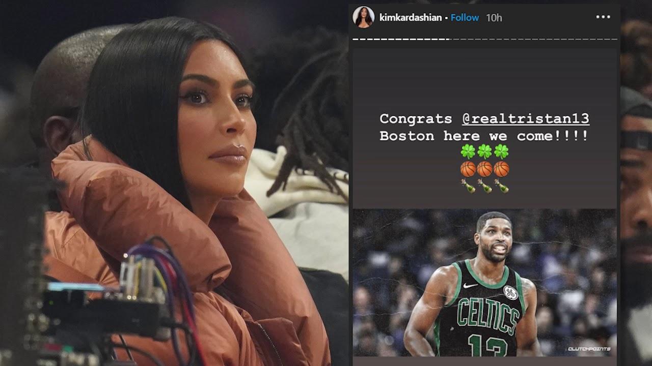 Kim Kardashian Congratulates Tristan Thompson On Celtics Deal ...