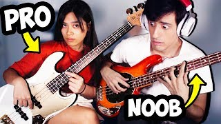My Girlfriend Teaches ME How To Play BASS