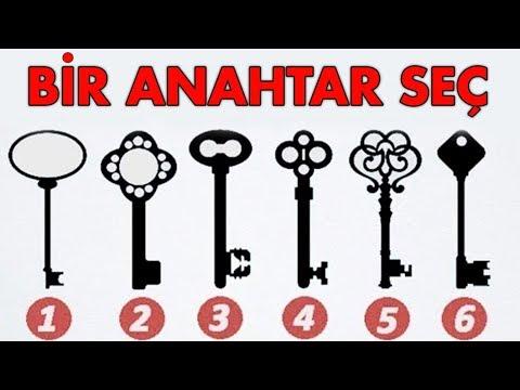 Bir Anahtar Seçin - Bilinçaltındaki Esas Kişiliğinizi Söylüyoruz! ( KİŞİLİK TESTİ )