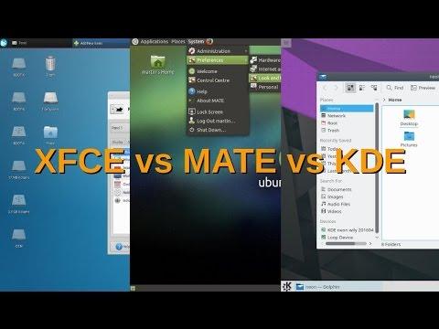 XFCE vs MATE vs KDE , Linux Vidcast with Rocco & Rob
