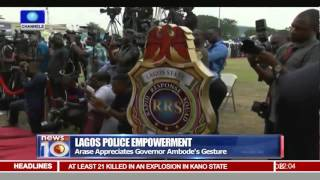 News@10: Lagos Government Donates Security Gadgets To Police 27/11/15 Pt 1