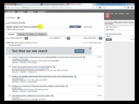 JSTOR Basic Search