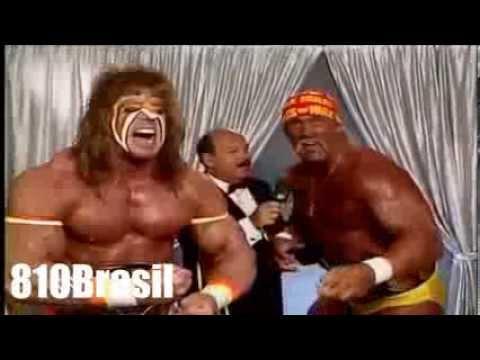 Hulk Hogan And Ultimate Warrior Vs Mr Perfect And The Genius