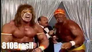 Hulk Hogan And Ultimate Warrior Vs Mr Perfect And The Genius