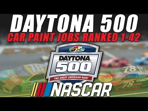 NASCAR Daytona 500 2017 Paint Schemes Ranked 1-42