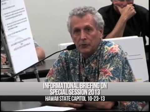 William Duncan Briefing House of Representatives, Hawaii