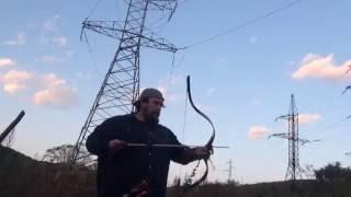 Китайские деревянные стрелы - тест 2. Дистанция 30 метров. Лук традиция, Ходер.
