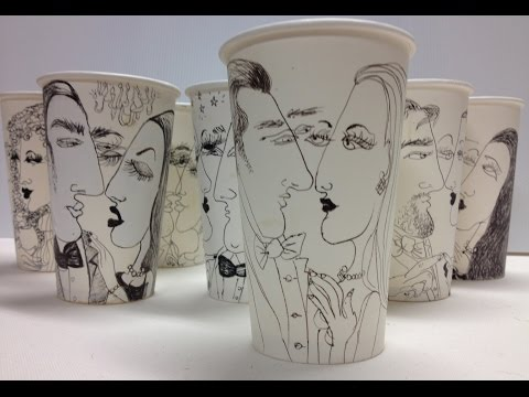 """Couples in Love"" /Cup movie:Couples on Cups:Stop Motion Cups"