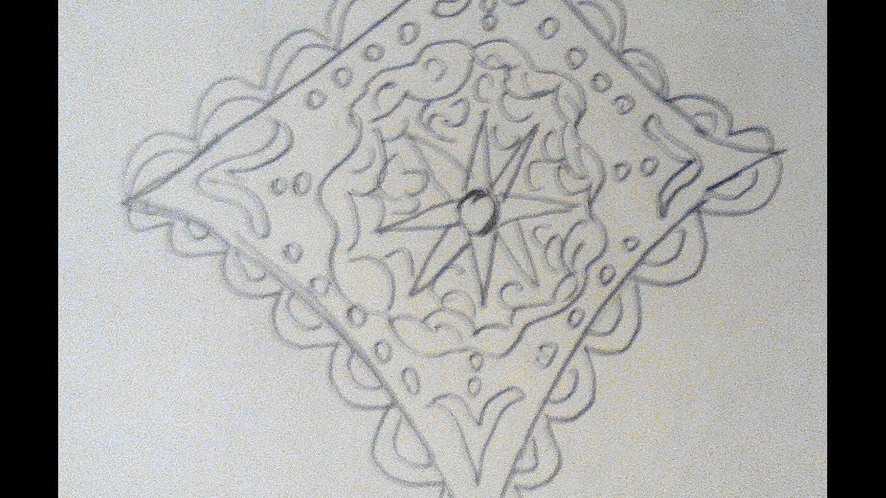 мамин платок поэтапное рисование
