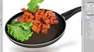 Техдизайн сковороды с овощами