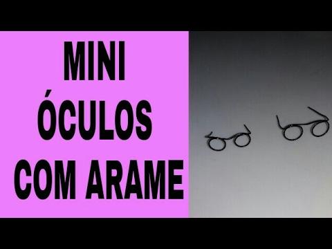 f5cbb7428 DIY-COMO FAZER ÓCULOS COM ARAME - YouTube