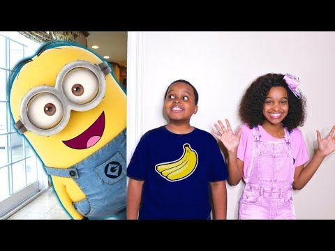 Thumbnail: Bad Baby Minions ATTACK! Evil Minion Banana Costume - Shasha And Shiloh - Onyx Kids