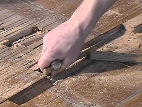 laced-in hardwood floor patch - youtube