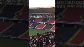 Gaziantepsporumuz-Ankara Demirspor/Maç sonu tribün çekimi