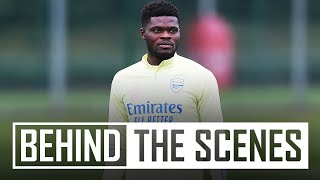 Thomas Partey joins the squad! | Behind the scenes at Arsenal Training Centre