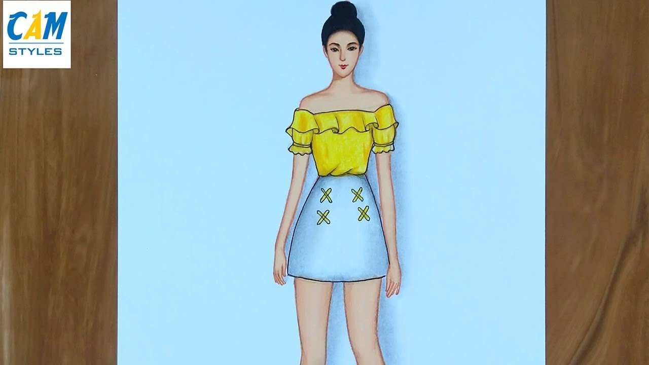 Fashion Sketches Outfits Simple Drawings Step By Step Easy Drawings For Beginners Youtube
