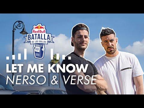 NERSO & DJ VERSE: LET ME KNOW