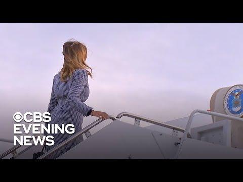 Melania Trump's plane unexpectedly returns to military base