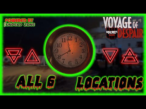 """VOYAGE OF DESPAIR"" All 6 Clock & Alchemy Symbol Locations Guide (COD: Black Ops 4 Zombies)"
